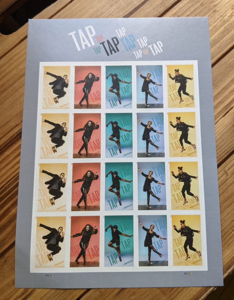 Tap dance stamp collection